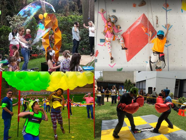 Plataforma virtual para organizar eventos infantiles