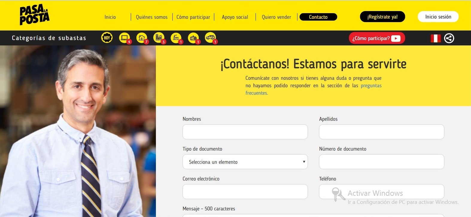 Plataforma de subastas online para emprendedores