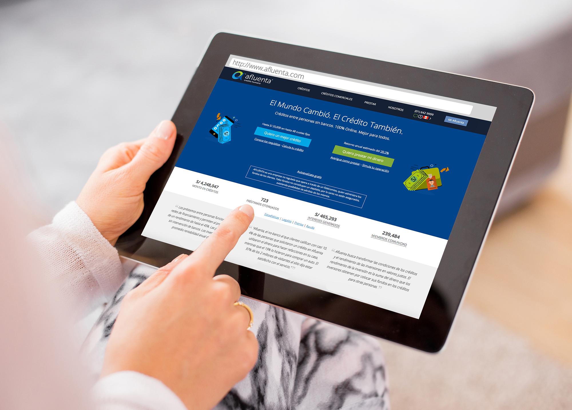 Afluenta: Plataforma digital de finanzas colaborativas