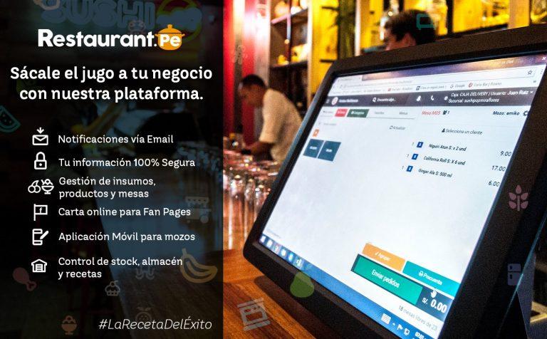 Plataforma para negocios gastronómicos