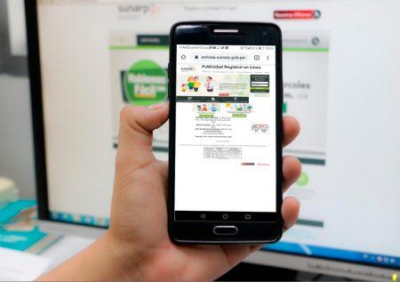 SUNARP ofrece más servicios online desde junio